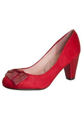 Sapato Scarpin Moleca Tie Vermelho