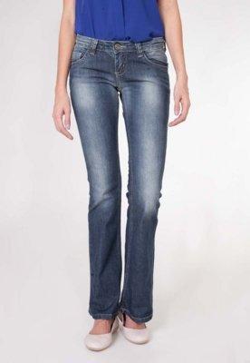 Calça Jeans Sawary Flare Style Azul