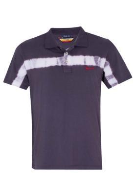Camisa Polo Coca-Cola Clothing Brasil Tie-Dye Cinza - Coca C...