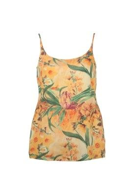Blusa Confort Colcci Flower Amarela
