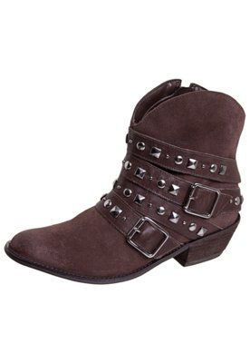 Ankle Boot Ramarim Cowboy Tachas Marrom