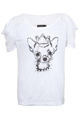 Blusa Linho FiveBlu Dog Branca