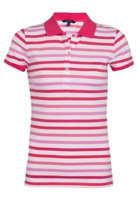 Camisa Polo Gant Preppy Piquê Rosa