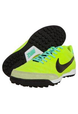 Chuteira Society Nike Tiempo Natural IV LTHR TF Verde
