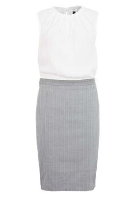 Vestido MNG Barcelona Tinto Branco e Cinza