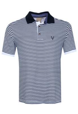 Camisa Polo VR Menswear Listrada Branca