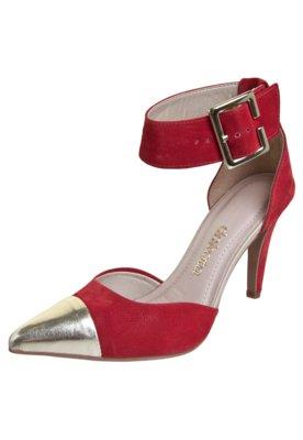 Sapato Scarpin Dakota Semi Aberto Cap Toe Pulseira Vermelho