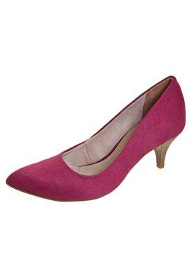 Sapato Scarpin Bico Fino Salto Médio Rosa - Bebecê