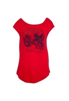 Blusa Loose Caveira Vermelha - Colcci