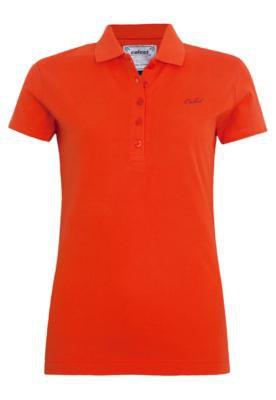 Camisa Polo Colcci Slim Bordado Laranja