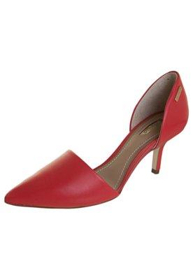 Sapato Scarpin Dumond Salto Médio D'orsay Vermelho