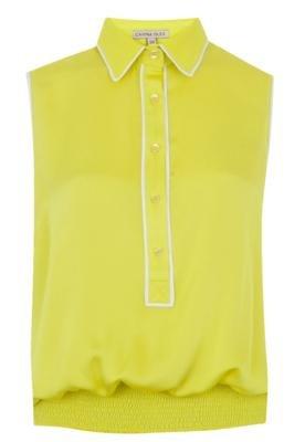 Blusa Carina Duek Gaia Amarelo