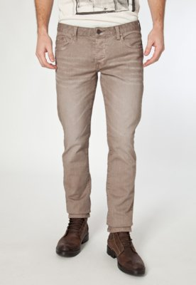 Calça Jeans Handbook Magnus Reta Bege