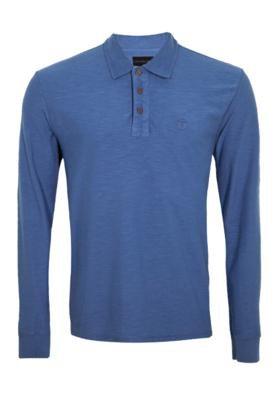 Camisa Polo Bordado Azul - Calvin Klein Jeans