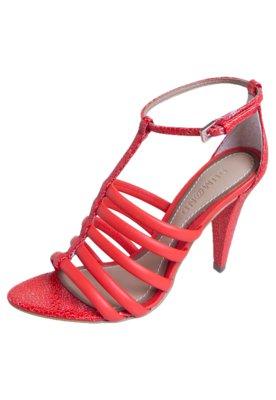 Sandália Dumond Tiras Vermelha