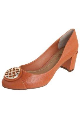 Sapato Scarpin Dumond Salto Grosso Baixo Caramelo
