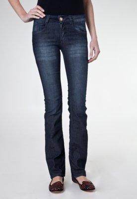 Calça Jeans Biotipo Reta Tachas Azul