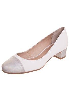 Sapato Scarpin Raphaella Booz Salto Baixo Branco