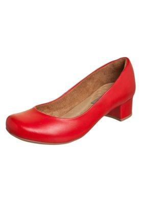 Sapato Scarpin Andarella Modern Vermelho