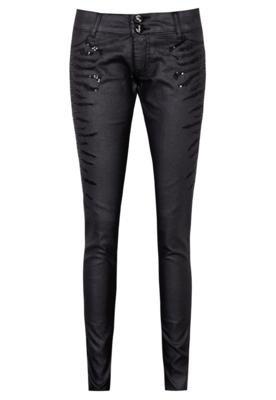 Calça Jeans Jegging Sawary Sequins Preta