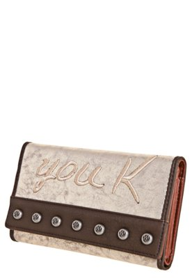 Carteira You K! Original Marrom/Dourada