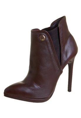 Ankle Boot Carmim Elástico Marrom