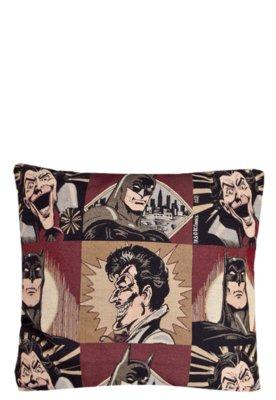Capa de Almofada Lartex Warner Batman e Coringa Bege
