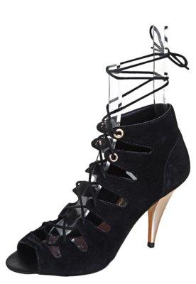 Ankle Boot Lilly's Closet Amarração Preta