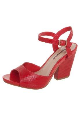 Sandália Bottero Salto Grosso Vermelha