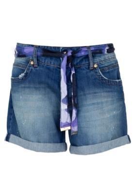 Bermuda Jeans Forum Daria Ind Bord Azul