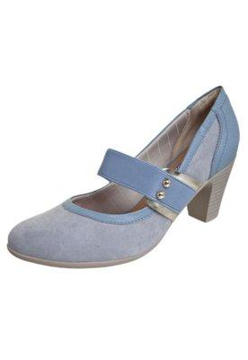 Sapato Scarpin Piccadily Mary Jane Elástico Azul - Piccadil...