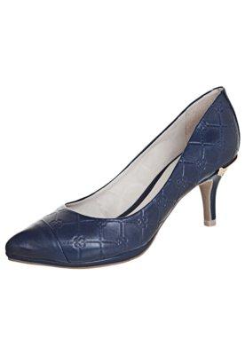 Sapato Scarpin Capodarte Salto Médio Monograma Azul