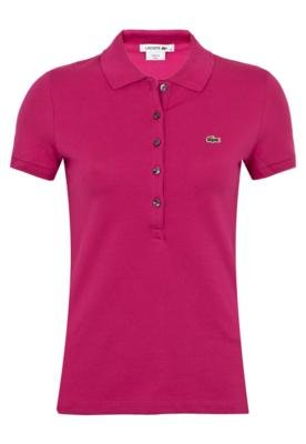 Camisa Polo Lacoste Stretch Rosa