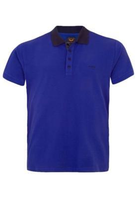 Camisa Polo Colcci Brasil Bordado Azul