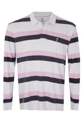 Camisa Polo AD Life Style Bordado Listrada