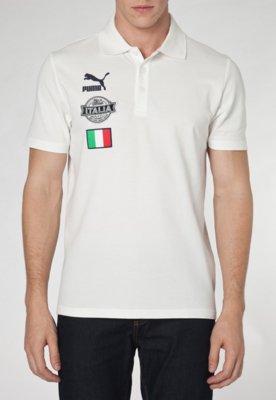 Camisa Polo Puma Football Itália Branca