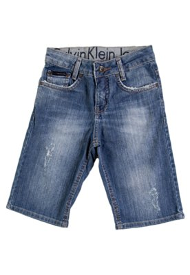 Bermuda Jeans Calvin Klein Kids Old Azul