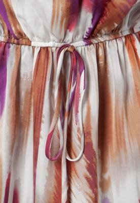 Vestido FiveBlu Abstrato Amarração Cinza