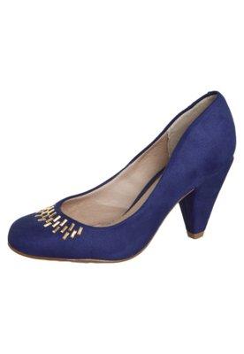 Sapato Scarpin Beira Rio Salto Médio Hotfix Azul