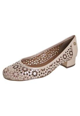 Sapato Scarpin Corso Como Saltinho Bloco Flores Vazadas Nude