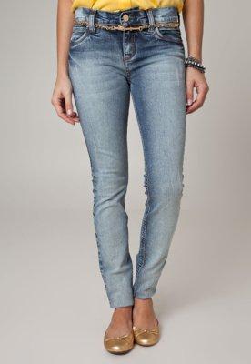 Calça Jeans Colcci Skinny Fátima Fivela Azul