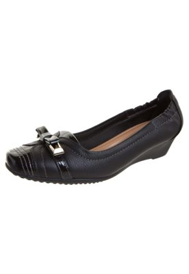 Sapato Scarpin Piccadilly Anabela Baixa Laço Preto