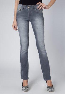 Calça Jeans Moment Cinza - Anna Flynn