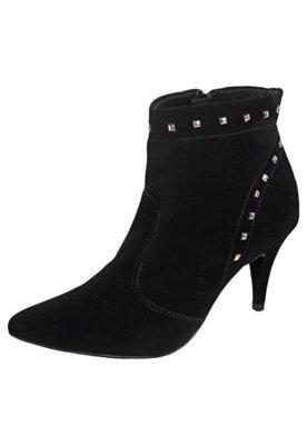 Ankle Boot SPikes Pirâmides Preta - Crysalis