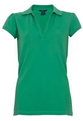 Camisa Polo Gant Clean Verde