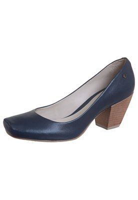 Sapato Scarpin Bico Quadrado Azul - Capodarte