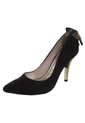 Sapato Scarpin Via Marte Laço Traseiro Preto