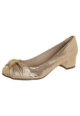Sapato Scarpin FiveBlu Strass Dourada