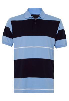Camisa Polo Pier Nine Trim Azul