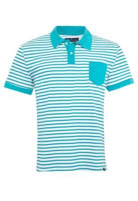 Camisa Polo Pier Nine Bolso Liso Listra